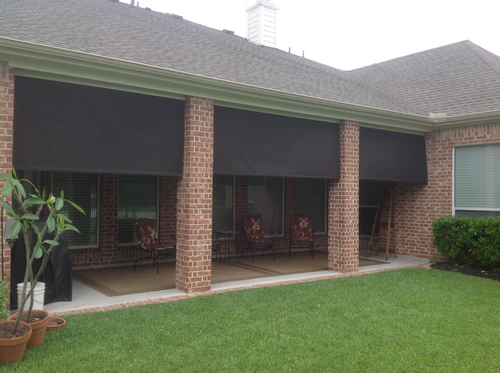Houston Outdoor Shades, Roll Up or Down Shades, Roll Away ...