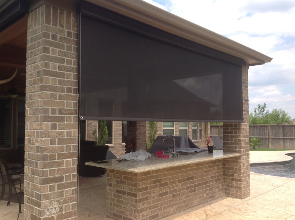 houston outdoor shades roll up or down shades roll away shade