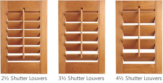 Shutter Louver Sizes