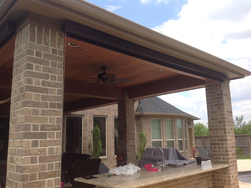 011 Outdoor Rolling Shades - Houston, TX