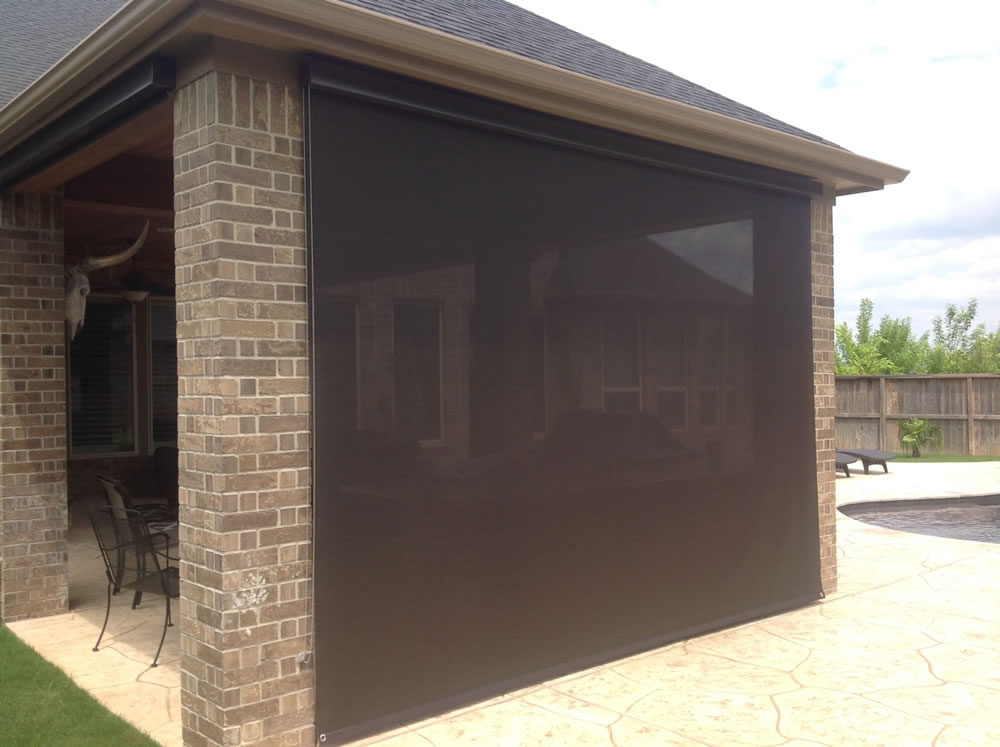 013 Outdoor Rolling Shades - Houston, TX