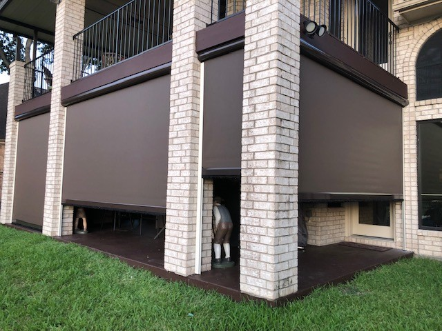 002 Motorized Patio Shades - League City, TX