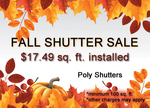 Plantation Shutters Fall Sale