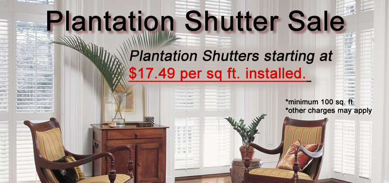 Plantation Shutter Sale Houston Texas Area