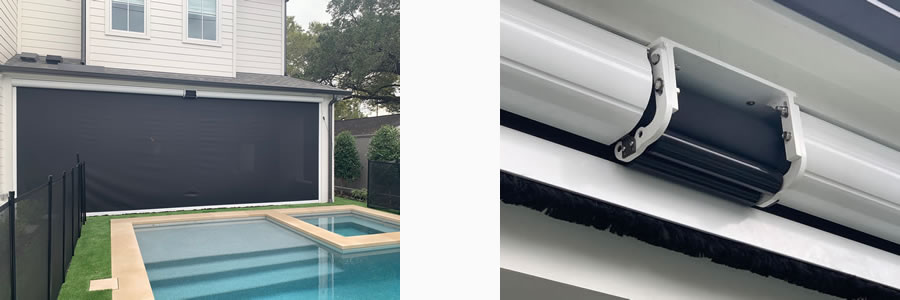 Widest Motorized Retractable Screens in Houston and all of Texas
