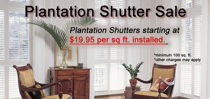 Plantation Shutter Sale Houston Texas Area